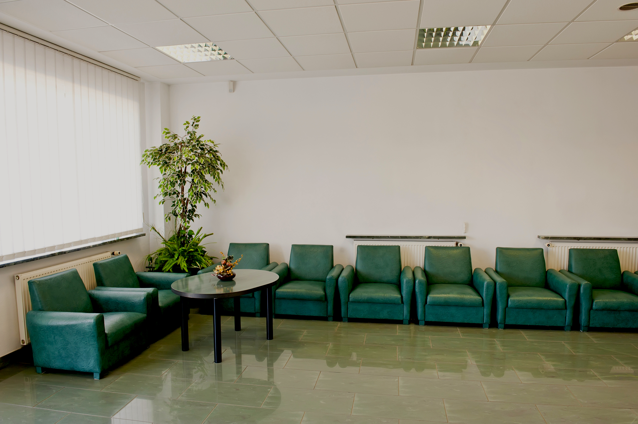 Modern hospital waiting room