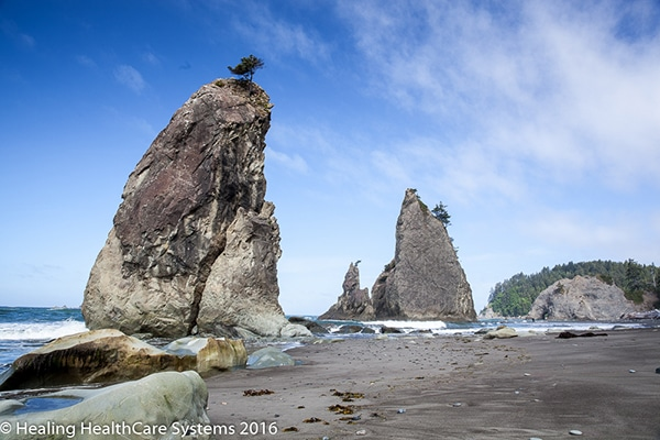 Olympic National Park - Rialto Beach Twin Spires