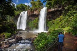 Dos Hermanos falls Iguazu Brazil