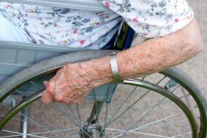 Senior in wheel chair