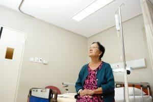 Woman in hospital alone copy