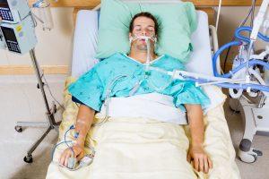 ICU patient intubated
