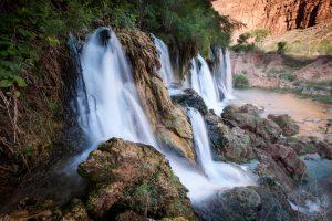 water falls and canyons