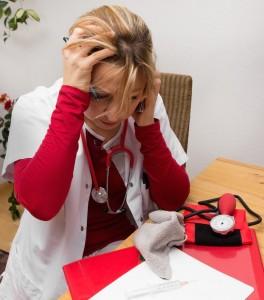 Stressed Nurse