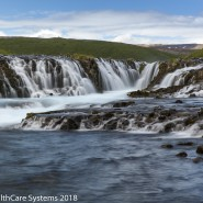 Iceland stepped waterfalling