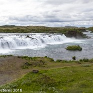 wide river in Icelandic valley
