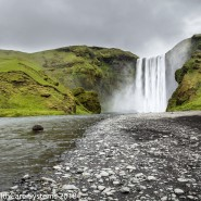 Big waterfall in Iceland