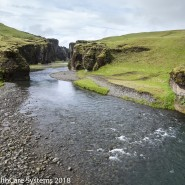 River mouth Iceland canyon