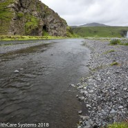 shallow stream in Iceland