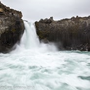 Iceland waterfall and pool