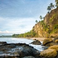 Costa Rica shoreline cliffs