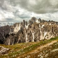 Dolomites cloudy day