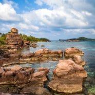 Vietnam stones in ocean