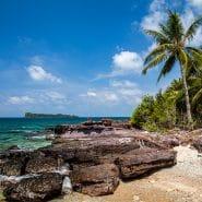 Vietnam rocky shore beach